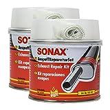 SONAX 2X 05531410 AuspuffReparaturSet Auspuffpaste Dichtmasse Asbestfrei 200ml