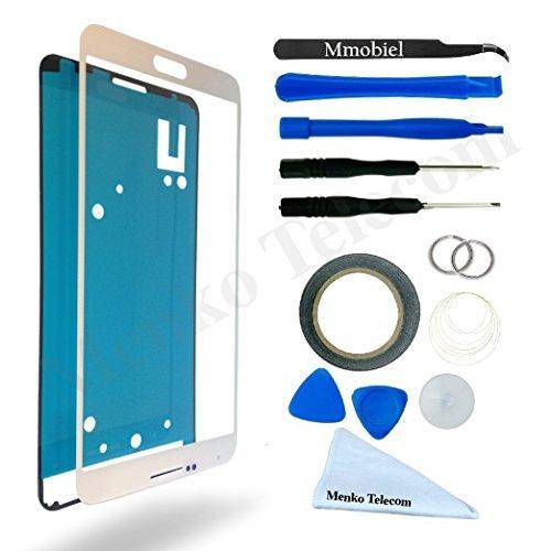 KIT DE REEMPLAZO DE PANTALLA MMOBIEL para SAMSUNG GALAXY NOTE 3 N9000 N9005 BLANCO INCLUYE PANTALLA DE VIDRIO/PINZAS/CINTA ADHESIVA DE 2 MM/HERRAMIENTAS/LIMPIADOR DE MICROFIBRA/ALAMBRE