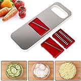 Mandolin Slicer, GEEKHOM 3 in 1 Mandoline Vegetable Slicer Stainless Steel Kitchen Food