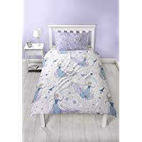 Disney Frozen Princess Icicle Single Duvet Cover | Reversible Two Sided Design | Kids Bedding Set Includes Matching Pillow Case