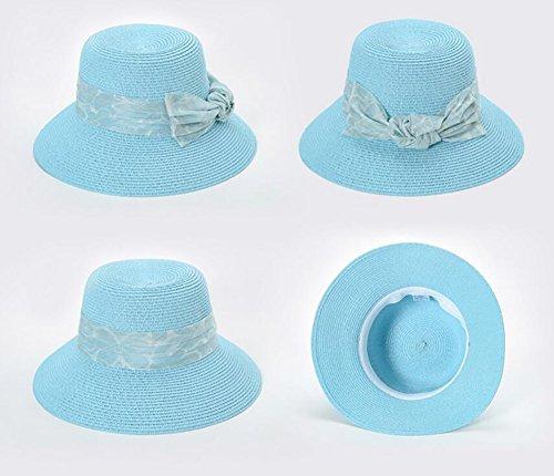 HWTYM Chapeau de paille Été Vacances en plage pour les femmes Voyage Chapeau en paille Grand chapeau de paille pliant en plein air ( Couleur : 2* ) 1*