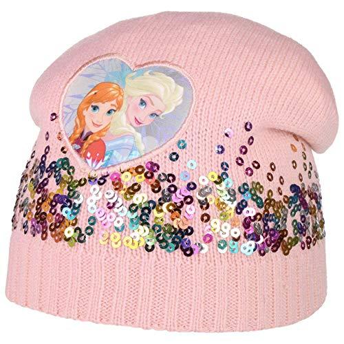 ELSA und Anna Frozen Mütze mit Pailletten (aus die Eiskönigin) - Wintermütze Mädchen - Beanie für Kinder - Kindermütze Sommer/Winter - Mädchenmütze rosa One Size