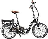 E-Bike Klapprad ENIK EASY 20 Zoll 3 Gang Frontmotor 317 Wh Pedelec Faltrad Fahrrad Elektrofahrrad (Schwarz)