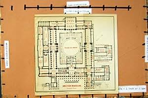 Salle de Lecture 1899 de British Museum de Plan d'Étage de Londres de Carte