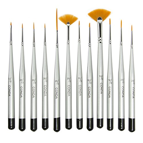 conda-fine-detail-paint-brush-set-12-miniature-brushes-for-detailing-art-painting-acrylic-watercolor