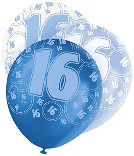 uftballons für den Geburtstag, glitzernd, 30,5cm, 6Stück (Sweet Sixteen-ideen)