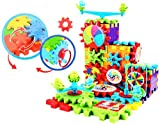 #5: Akhand Educational 81 Pieces DIY Magic Moving Building Blocks and Gears Construction Set Toy