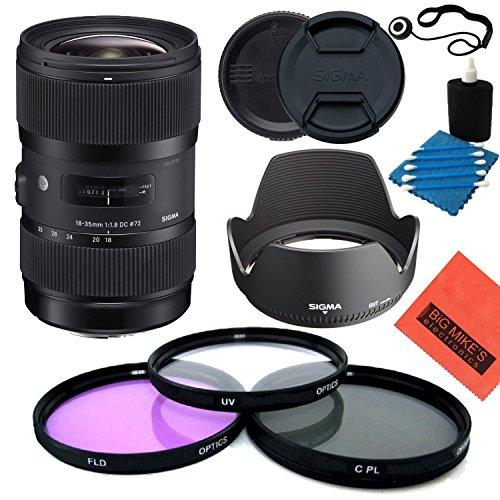 Sigma 18-35mm f/1.8DC HSM Art Objektiv für Canon DSLRs-Starter Kit - T3i Eos Canon Digital Rebel