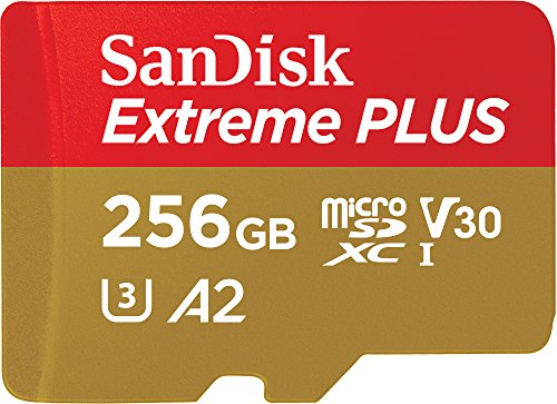 SanDisk Extreme Plus 256GB microSDXC Memory Card + SD Adapter with A2 App Performance + Rescue Pro Deluxe, up to 170MB/s, Class 10, UHS-I, U3, V30