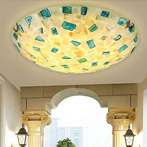 XNCH Luz de Techo Estilo Tiffany, lámpara de Techo mediterránea, lámpara de...
