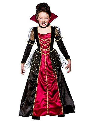 Princesse-Vampira-Filles-Halloween-Carnaval-Costume-XL-1113-ans-146-158cm