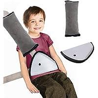 Lucklystar Almohadillas para Cinturón de Seguridad para Viaje de Niños, Almohadillas de Hombro Ajustables para Vehículos, Almohadillas de Cinturón de Seguridad para Niños, Almohadilla de Cinturón Protector de Seguridad, Almohadilla de Cinturón de Seguridad Suave Auto de la Felpa Cubierta Reposacabezas Soporte de Cuello para Niños