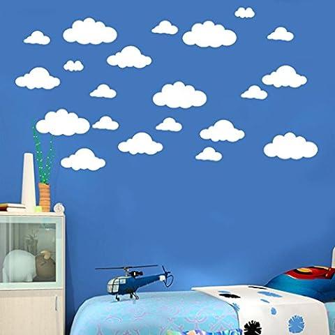 Transer 31 / set DIY amovible grand nuages 4-10 pouces Wall Sticker vinyle Wall Decoration pour chambre maison