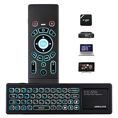 Airmouse Remote Control, AMBOLOVE Mini Keyboard Wireless