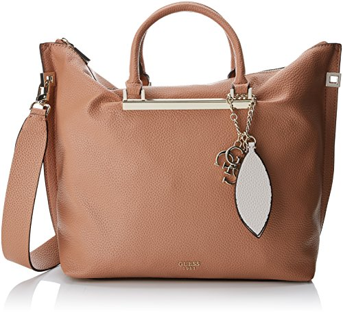Tan Leder Hobo (Guess Damen Bags Hobo Shopper, Braun (Tan), 12.5x33x41 centimeters)