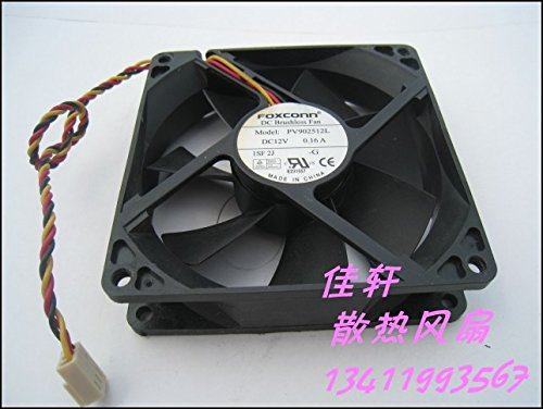 KTC Computer Technology Free Shipping Wholesale for Foxconn PV902512L 9025 9225 9cm 90mm DC 12V 0.16A Server Square Fan