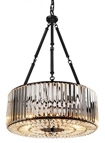 Casa Padrino Luxus Hängeleuchte Gunmetal Finish/Glas - Art Deco Restaurant - Hotel Lampe Leuchte