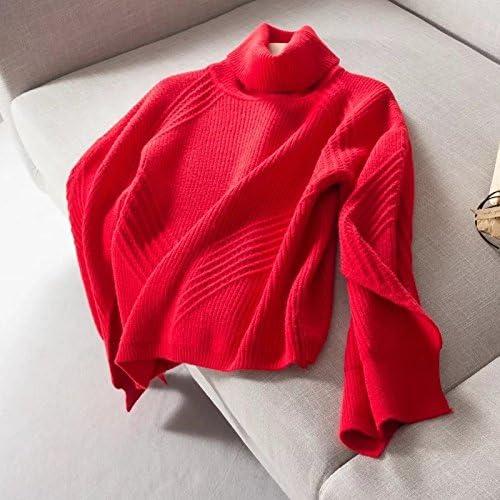 8fa9df4822 SZYL-Sweater Maglione Maglione Maglione a Collo Alto Collo Alto Maglioni  Femminili da Donna in Europa e Stati Uniti B07BGXMGJD Parent | Terrific  Value ...