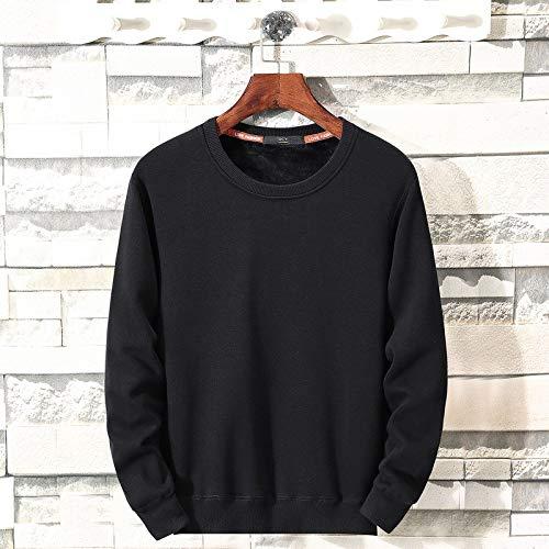 Zlhcich otoño Nuevo suéter Color sólido Hombres