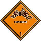 LEMAX® Verpackungskennzeichen Kl. 1.1 Explosive, Folie, seewasserbeständig, 100x100mm