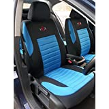 Toyota Auris/Avensis/Prius Fundas de asiento para coche, universales, VRX Juego Completo (Azul)