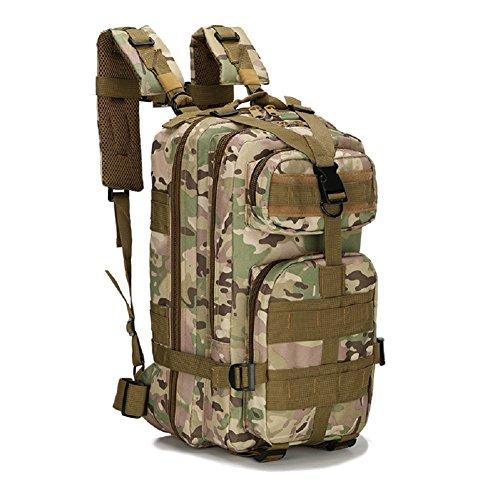 LF&F Backpack Militär Ausrüstung Tarnung Angriff Pack taktischen Kampf Rucksack Taschen Camping Rucksack Outdoor-Sport 3P Rucksack. Schultern Tasche Bergsteigen Tasche F