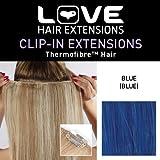 Amor Extensiones de cabello - IPL / K1 / QFC 12/18 / AZUL - termofibra (TM) -...