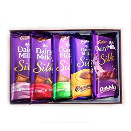 Cadbury Dairy Milk Silk Combo Pack (Pack Of 5) 270Gm