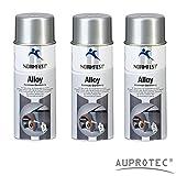 Auprotec® Normfest Aluminium Grundierung Alloy Alu Grund Aluspray 600°C hitzebeständig Spray 400 ml (3 Dosen)