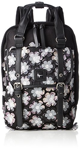 Reise-print Hobo (Tamaris Damen Leticia Backpack Rucksack, Schwarz (Black Comb), One Size)