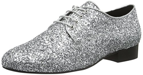 Buffalo London 30848 Glitter, Scarpe Stringate Donna Argento (Silber (Prata 01))