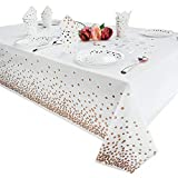 Tukcherry Tovaglie da cucina rettangolari in plastica per feste di compleanno laurea feste di matrimonio 54 x 108 pollici