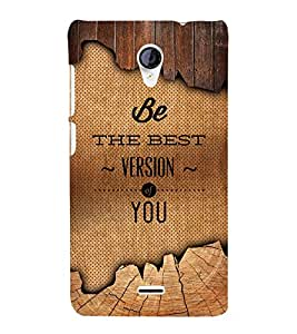 Be The Best Version Of U 3D Hard Polycarbonate Designer Back Case Cover for Micromax Canvas Unite 2 A106