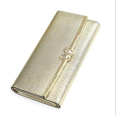 ZLR Mme portefeuille Porte-monnaie à long terme pour dames New Fashion Three Fold Multi-card Bit Portefeuille à grande capacité Ladies