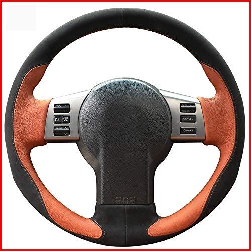 HCDSWSN Brown Leather Black Suede Auto Lenkradbezug für Infiniti FX FX35 FX45 2003-2008 Nissan 350Z 2003-2009 Zubehör (Infiniti Fx35 2003)