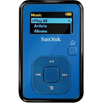 SanDisk Sansa Clip+ 4GB MP3 Player with Radio and Expandable MicroSD/SDHC Slot - Blue