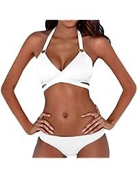❤️JiaMeng Bikini 2018,Mujeres Sexy cintura baja Bikini conjunto push-up acolchado traje de baño bañador vendaje ropa de playa