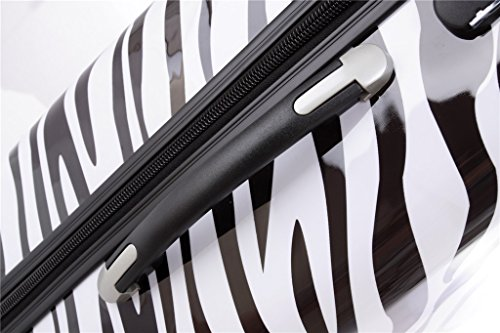 Reisekoffer 2060 Hartschalen Trolley Kofferset in 12 Motiven SET--XL-L--M-- Beutycase (Zebra, 3er Set(XL+L+M)) - 3