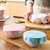 Pinkdose® White: 1Pc Multi Functional Food Grade Silicone Wrap Cover Microwave Oven Refrigerator Fresh Bowl Transparent Sealing Cover