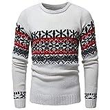 zarupeng Suéter de los hombres de Otoño Invierno Pullover de punto Cardigan Coat Print Sweater...