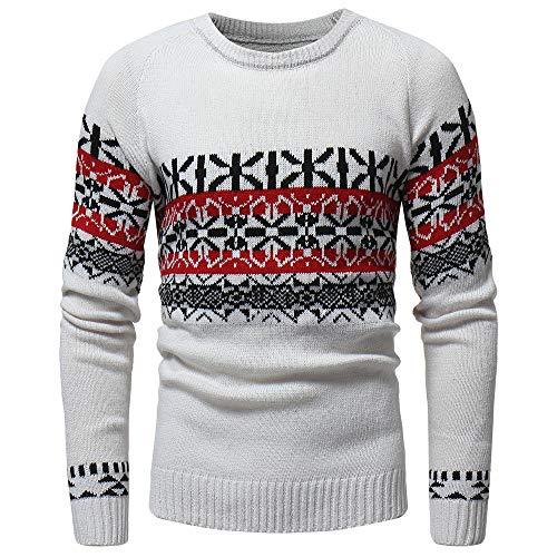 MIRRAY Herren Lässige Herbst Winter Pullover Strickjacke Mantel Drucken Pullover Jacke Outwear