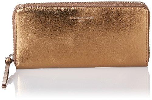Liebeskind Berlin Damen Gigiw7 Memila Geldbörse, Gold (Warm Beige), 3x10x20 cm (Metallic-multi-leder-schuhe)