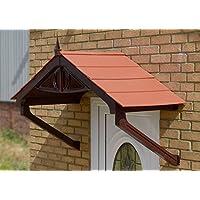 Regency copertura per pioggia Shelter ombra copertura anteriore portico facile DIY Apex tenda marrone con cornice,