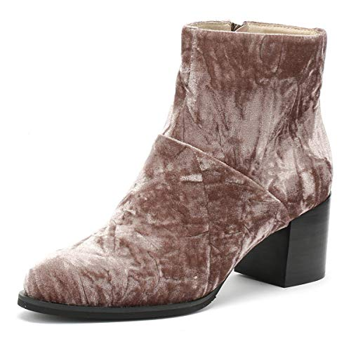 Shoe the Bear Ceci Femmes Deep Blush Marron Velvet Bottes