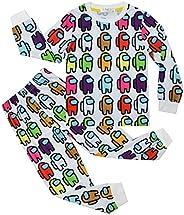 KK.YY Kids Among Us Game Hoodie Set Bambini Cartoon Pigiama Ragazzi Felpa Ragazze Manica Lunga T-Shirt e Panta