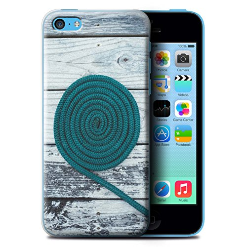 Stuff4 Hülle / Case für Apple iPhone 5C / Seil/Holz/Deck Muster / Teal Mode Kollektion Seil/Holz/Deck