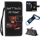 für LG G5 Hülle Blume Premium PU Leder Schutzhülle für LG G5 (5,3 Zoll)Bookstyle Tasche Schale PU Case mit Standfunktion(+Outdoor Kompass Schlüsselanhänge) SX (9)