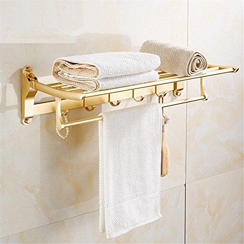 Badezimmer Racks Faltbarer Handtuch Rack Aufhängen Double Layer auch leer Aluminium Badezimmer Handtuch Rack (nicht enthalten die Produkte angezeigt) -