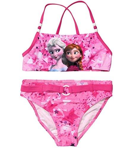 Frozen Bademode Die Eiskönigin 2017 Kollektion Bikini 98 104 110 116 122 128 Anna und Elsa Neu Völlig Unverfroren (110 - 116, Bikini Fuchsia) (Bikini Neue Mädchen)