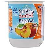 Sant'Anna - Santhè - The Freddo alla Pesca - Con Vero Infuso di The in Acqua Sant'Anna - Confezione da 3 Bicchieri con Cannuccia di Plastica - 200 ml Ciascuno